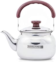 Royalford Stove Top Tea Kettle – Large Capacity Stainless Steel Stove-top Tea Pot - Tea Coffee Pot Ideal for Home Office & Hotel – Compact & Stylish Design with Heat Resistant Handle