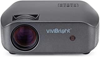 Vivibright F10 HD 720P LED Projector 3500 Lumens 1280*720P Resolution HDMI/USB/VGA/AV 300 inch Display Home Entertainment Video Projector better than Gp100 Unic UC46 T6