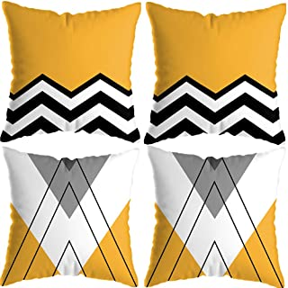 Yellow Wave Cushion Covers