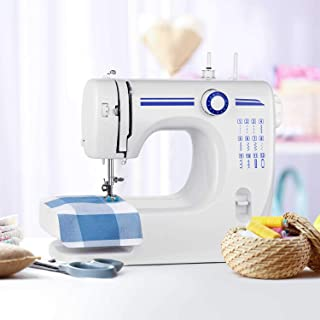 Sewing Machine HOMEOW Compact Household Portable Sewing Machine 12 Stitches Multi-function Dual Speed Electric Mini Sewing Machine for Beginners Amateurs with Foot Pedal for Family DIY Embroidery