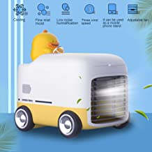Portable Air Cooler 3 Wind Speed Atomizing Humidifier Cooling Fan Phone Stand Mini Air Conditioner for Outdoor Office
