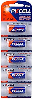 5 Pieces A23/23A 12V Ultra Alkaline Batteries For Gate Garage Security Remote Control 23A VR22 RV08 L1028 GP23A MN21 Green Energy by PKCELL…