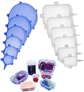 12 Pack Silicone Stretch Lids