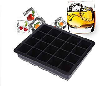 U-HOOME Silicone Ice Cube Trays Ice Cube Molds Easy - Release and Flexible 20- Cavities Square Ice Cube Mold