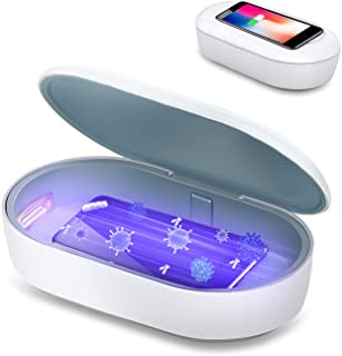 UV Phone Sterilizer Box UV Light Cell Phone Sanitizer and Disinfection Phone Cleaner with Aromatherapy Function Disinfector for iPhone Android Smartphone Toothbrushes