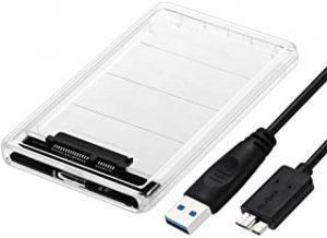 KeyZone Hard Drive Enclosure 1.6ft USB 3.0 Cable 2.5 inch 5 Gbps For External SATA HDD or SSD