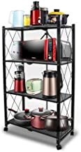 4-Tire Kitchen Microwave Racks Shelving Storage Unit Foldable Bread Racks