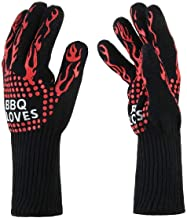 Cooking Gloves Extreme Heat Resistant Long Forearm Protection Grilling Cooking Gloves Grill & Kitchen Accessories