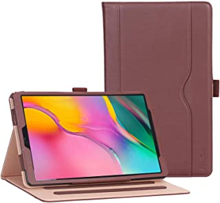 ProCase Galaxy Tab A 10.1 Case 2019 Model T510 T515 T517 - Stand Folio Case Cover for Galaxy Tab A 10.1 Inch 2019 Tablet SM-T510 SM-T515 SM-T517 2019 Release -Brown