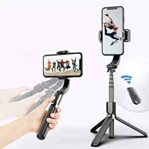 Gimbal Stabilizer for Smartphone L08 Handheld Gimbal with 360°Auto Balance Ant Shake Remote Wireless Bluetooth Selfie Stick Pan-tilt Tripod with Built-in Bluetooth Remote