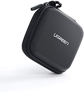 UGREEN Earphone Case Small Headphone Hard Case Carrying Bag Pouch with Mesk Pocket and Double Zipper for AirPods