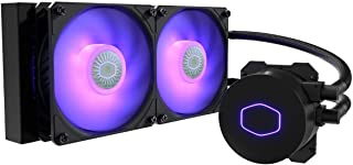 Cooler Master MasterLiquid LC120E RGB All-in-one CPU Liquid Cooler with Dual Chamber Pump Latest INTEL 240mm MLW-D24M-A18PC-R2