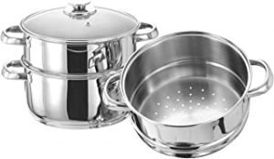 Vinod 3-Tier Steamer with Glass Lid