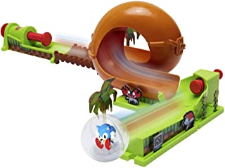 Sonic The Hedgehog Pinball Green Hill Zone Pinball Track Play Set |Looping Action & Automatic Bumper | 9Piece with Exclusive Sonic Sphere Included