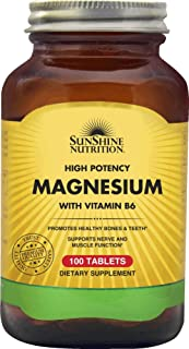 SUNSHINE NUTRITION High Potency Magnesium With Vit B6 100 Tablets