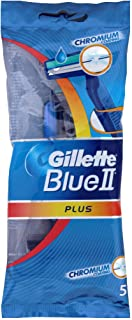 Gillette Blue II Plus Disposable Razors x5