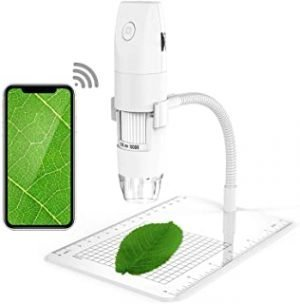 Chulovs Wireless Digital Microscope 1080P 50X to 1000X Magnification Microscopy with 8 LED