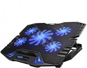 TopMate C5 10-15.6 inch Gaming Laptop Cooler Cooling Pad