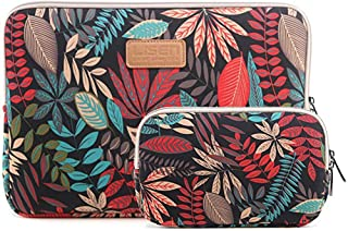 SUIUOI 2Pcs Laptop Sleeve Carry Bag Lightweight Portable Laptop Pouch Case Notebook Macbook Tablet Protective Soft Cover with Zipper (Black
