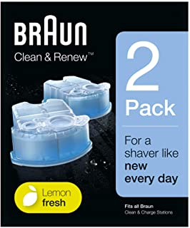 Braun Clean and Renew Refill Replacement Cartridges for Electric Shaver