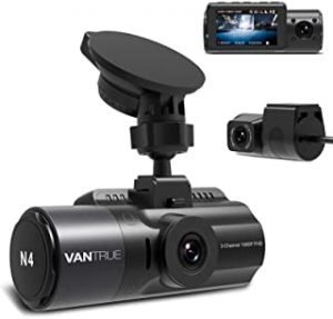 Vantrue N4 Three Way Dash Cam 3 Channel 1440P Front