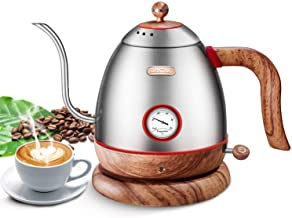 Electric Pour Over Water Kettle Boiler with Thermometer