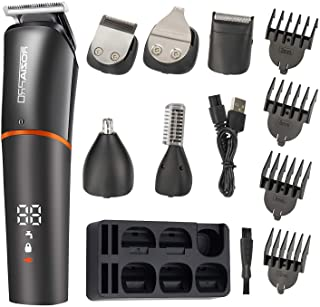 Roziaplus Beard Trimmer Hair Clippers 6 in 1 Multifunctional Trimmer for Men with Nose Hair Trimmer Professional Beard Grooming Kit for Men IPX6 Waterproof Manscaping Trimmer