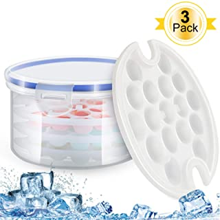 Fvntuey Ice Cube Trays and Ice Cube Storage Container Set With Airtight Locking Lid
