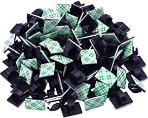 Diagtree 100 Pcs Adhesive Cable Clips