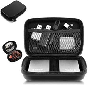 External Hard Drive Case 2.5 Inch Shockproof Hard Drive Bag Travel Organizer Carry Case for WD