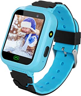 YENISEY Kids Smart Watch Waterproof for Boys Girls - WiFi+GPS Tracker Smartwatches IP67 Waterproof Fitness Tracker with SOS Camera Anti-Lost Games Touch Screen Electronic Toy Boy Girl Blue