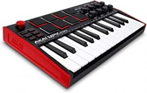 AKAI Professional MPK Mini MK3 | 25 Key USB MIDI Keyboard Controller With 8 Backlit Drum Pads
