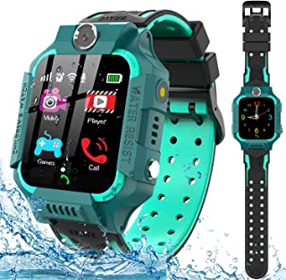 Kids Smart Watch for Boys Girls - IP67 Waterproof Smart Watch Phone with Music Player Video Calls Recorder Camera Gizmos Games Alarm 12/24 Hr Kids Toddler Smartwatch Birthday Gifts (Green)