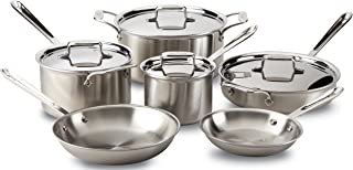 All-Clad BD005705 D5 Stainless Steel 5-Ply Bonded Dishwasher Safe Cookware Set