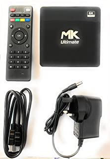 Mk Ultimate Box - Mk Smart Tv Box Version - Intelligent 6k Ultra Hd Media Player Work With Tvs - Projector - Powered By Android 10 4 GB Ram 32 GB Memory - International Languages