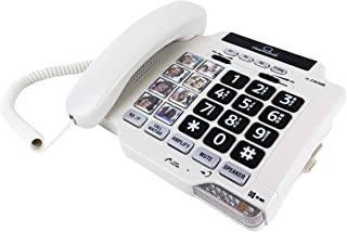 ClearSounds CSC500 Amplified Landline Phone with Speakerphone and Photo Frame Buttons - Up to 40dB Amplification