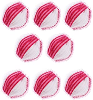 LEDMOMO 8Pcs Lint Remover Washing Balls Laundry Hair Remover Reusable Dryer Balls Washer for Washing Machine