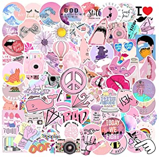 103 Pack Pink Stickers for Water Bottles Laptop Stickers Waterproof Cute Aesthetic Stickers for Kids Cars Motorcycle Bicycle Skateboard Teen Girls boy Suitcases Skateboard Graffiti Stickers