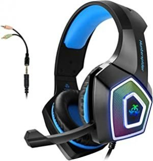 Gaming Headset with Mic for Xbox One/PS4/PS5/PC/Tablet/ Smartphone