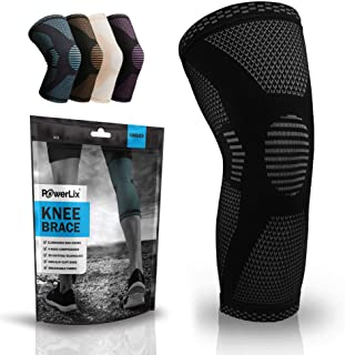 POWERLIX Knee Compression Sleeve - Best Knee Brace for Men & Women – Knee Support for Running