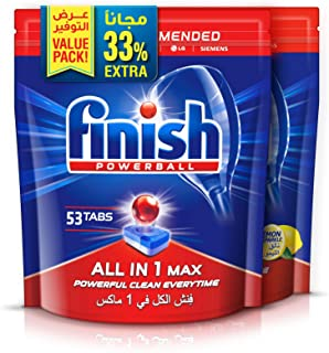 Finish Dishwasher Detergent Tablets All in One