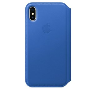 Apple Leather Folio Electric Blue For iPhone X