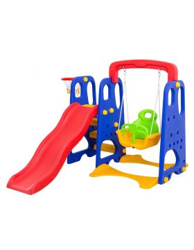 Home Canvas Toddler Climber and Swing Set 3 in 1 Kids Play Climber Slide Playset