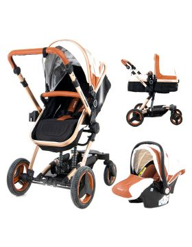 Belecoo 8 White & Beige - 4 in 1 Luxury Travel System