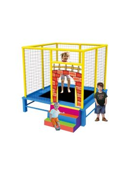 Myts Flipout Bounce Kids Trampoline for outdoor with extra safety