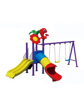 XIANGYU High Quality Plastic Children's Outdoor Playground with Slides and swings for Kindergarten