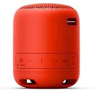 Sony SRSXB12/R Portable Bluetooth Water Resistant Speaker - Red (Pack of 1)
