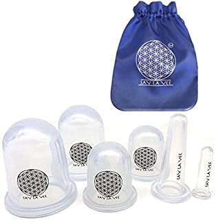Say La Vee 6 pieces Anti Cellulite Silicone Cupping Therapy Set for Body and Facial