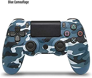 Bitplay Bluetooth 4.0 Dual Shock Wireless Controller Vibration Joystick Gamepads For PlayStation 4 PS4 Console Game Pad Charger (Blue camouflage)