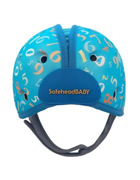 Safehead Baby Soft Helmet for Babies Learning to Walk - Numbers Blue